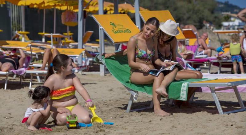 Spiaggia del Villaggio Lake Placid in Abruzzo