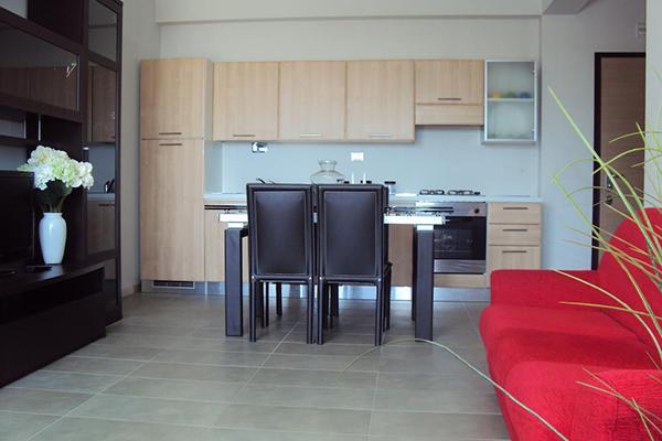 Vista Cucina del Residence Belvedere a Pineto