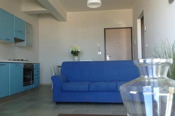 Cucina e soggiorno del Residence Belvedere a Pineto