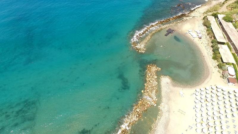 Baia veduta aerea spiaggia