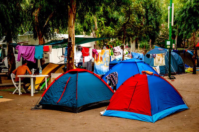 campo tende roulotte camper