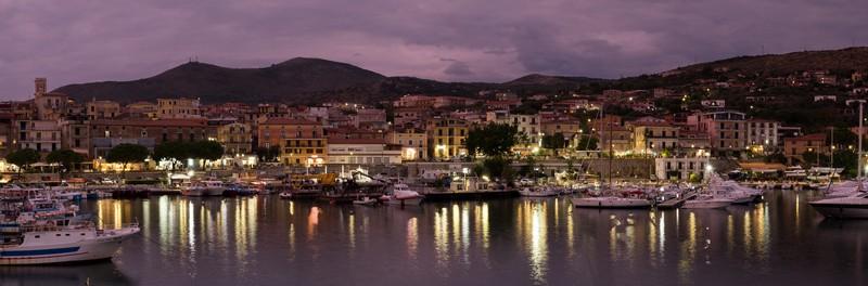 Porto Marina di Camerota di notte