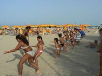 Giochi in spiaggia Villaggio Lake Placid di Silvi Marina
